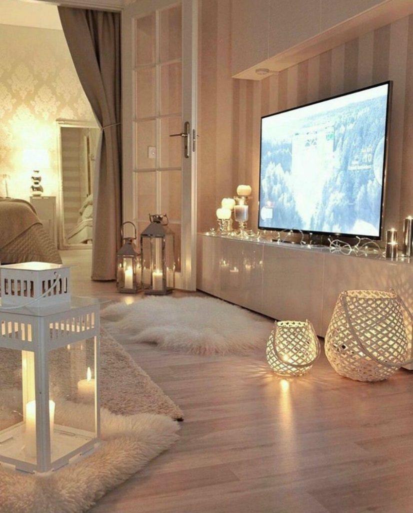 Gemütliche Wohnzimmer Ideen für warmes Weihnachten zu Hause | Wohn ...