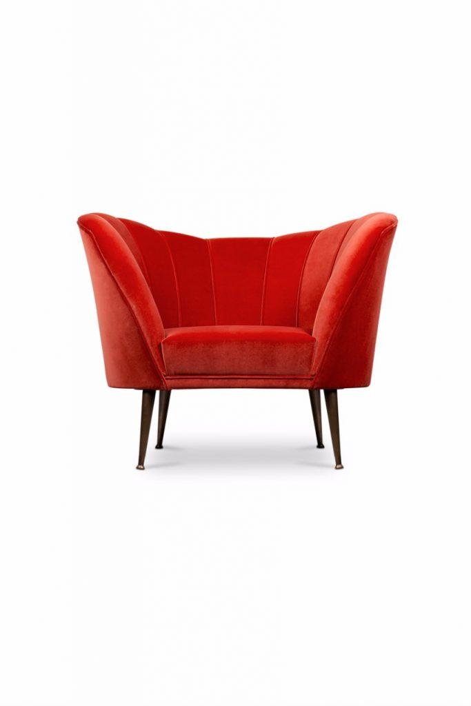 trendige Sessel  pantone Pantone Farbbericht: trendige Sessel mit Pantone Farben 2018 cherry tomato