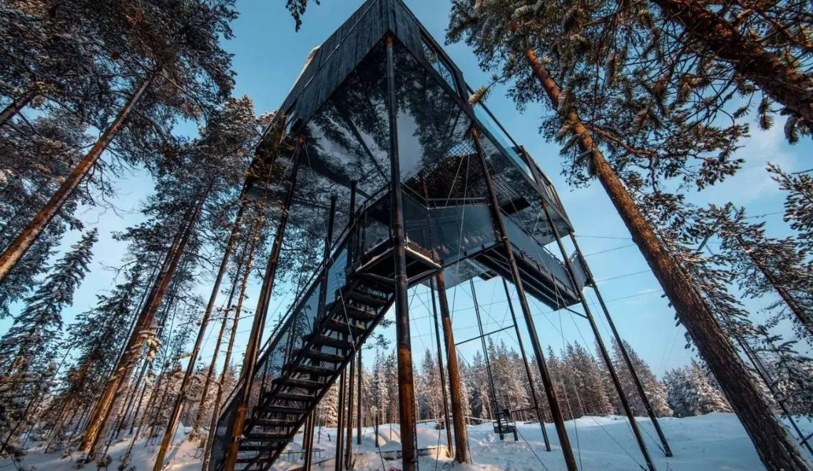 Unglaubliches schwedisches Baumhaushotel von Snøhetta Architekten