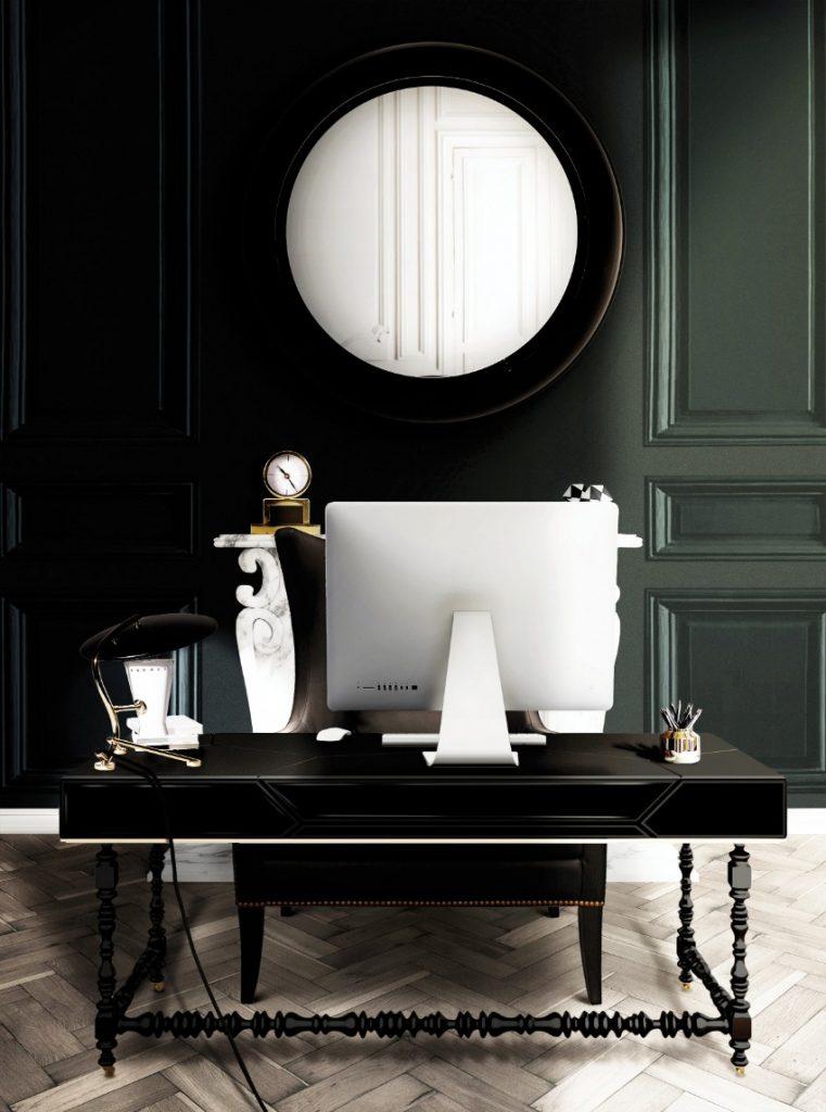 Die dunklere Seite des modernen Wohndesigns Wohndesigns Die dunklere Seite des modernen Wohndesigns office interior delightfull unique lamps 01 HR