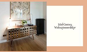 Lassen Sie sich von diesem Mid-Century Wohnzimmerdekor inspirieren!