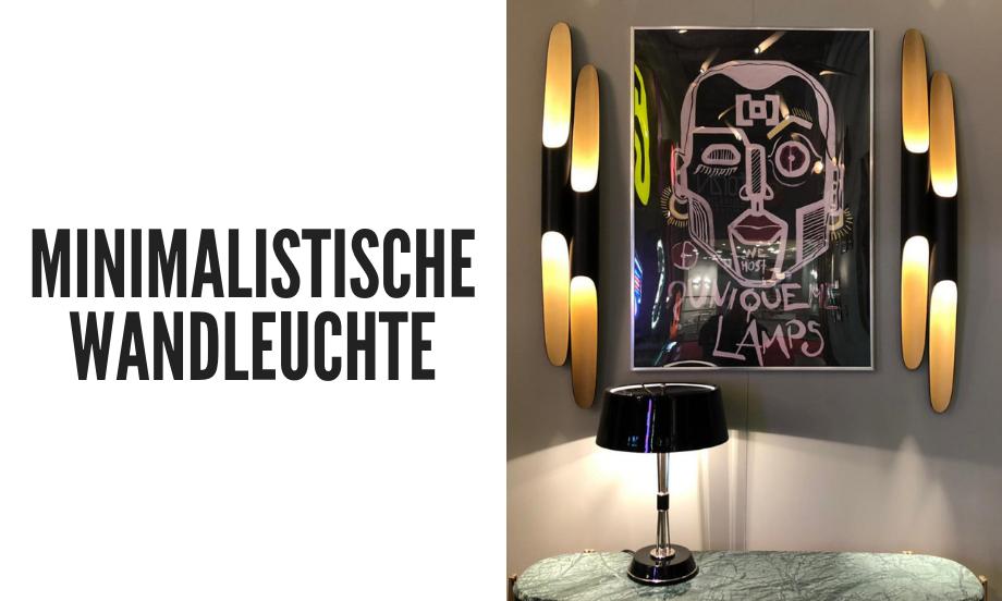 Eine minimalistische Wandleuchte, die Ihr Wohnzimmer dekoriert!